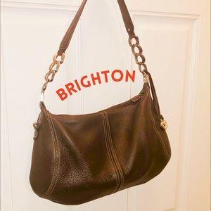 Brighton Brown leather hobo handbag brown classic